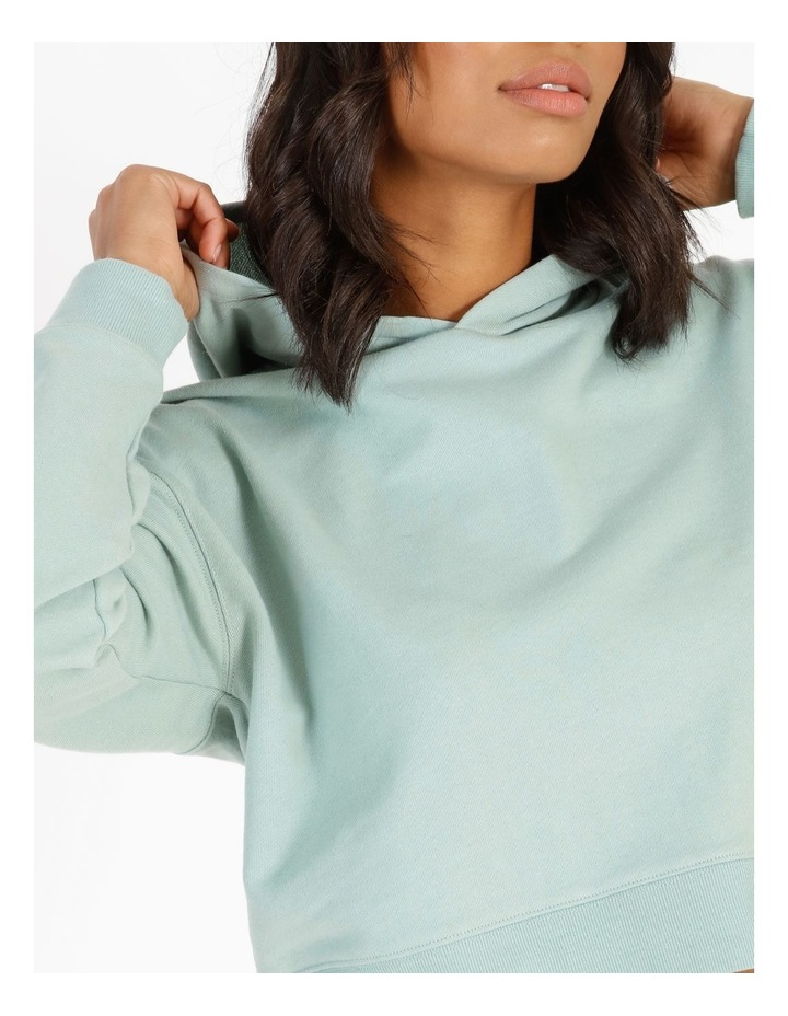 Hooded Cropped Sweat - Mint image 4