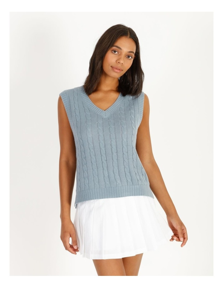 Knitted Cable Vest image 1