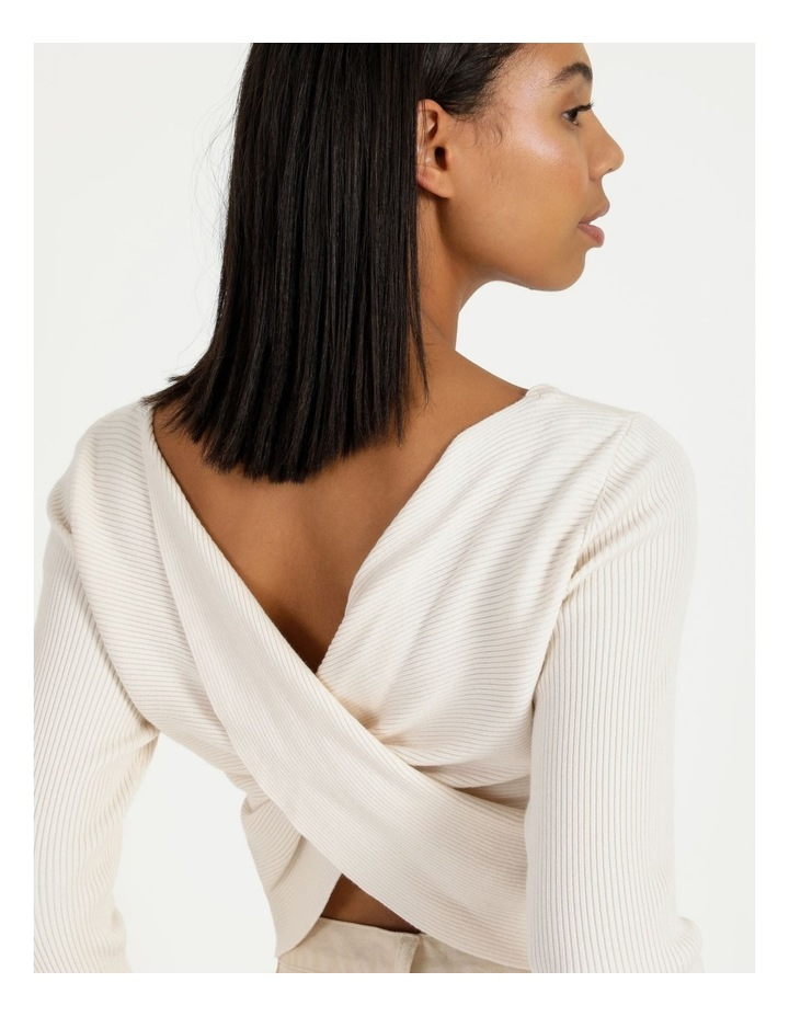 Vanilla Rib Twist Back Knit Top image 6