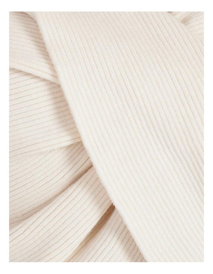 Vanilla Rib Twist Back Knit Top image 7