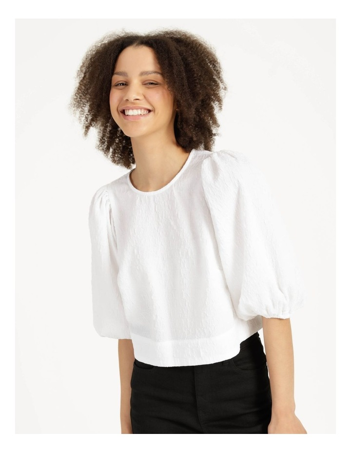 Cut Out Back Crop Top Bright White image 1