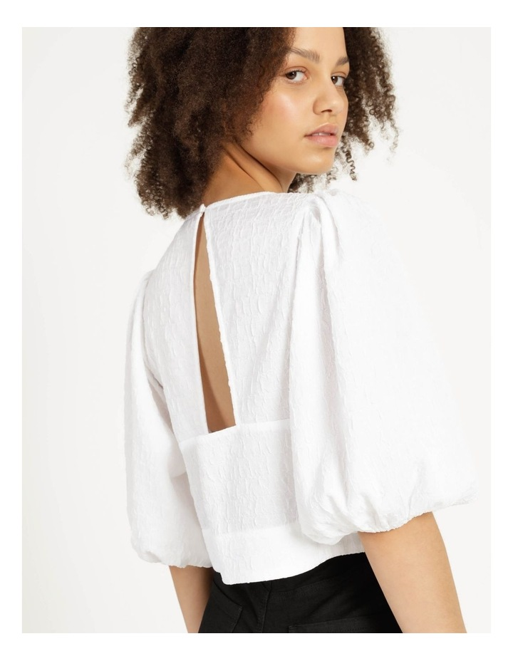 Cut Out Back Crop Top Bright White image 2