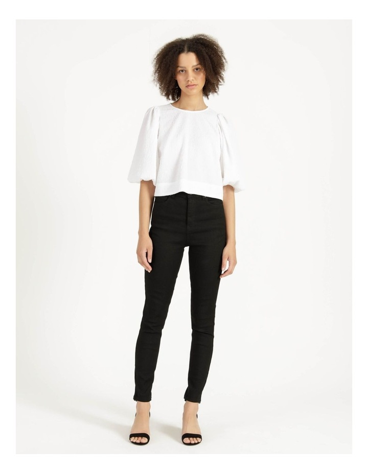 Cut Out Back Crop Top Bright White image 3
