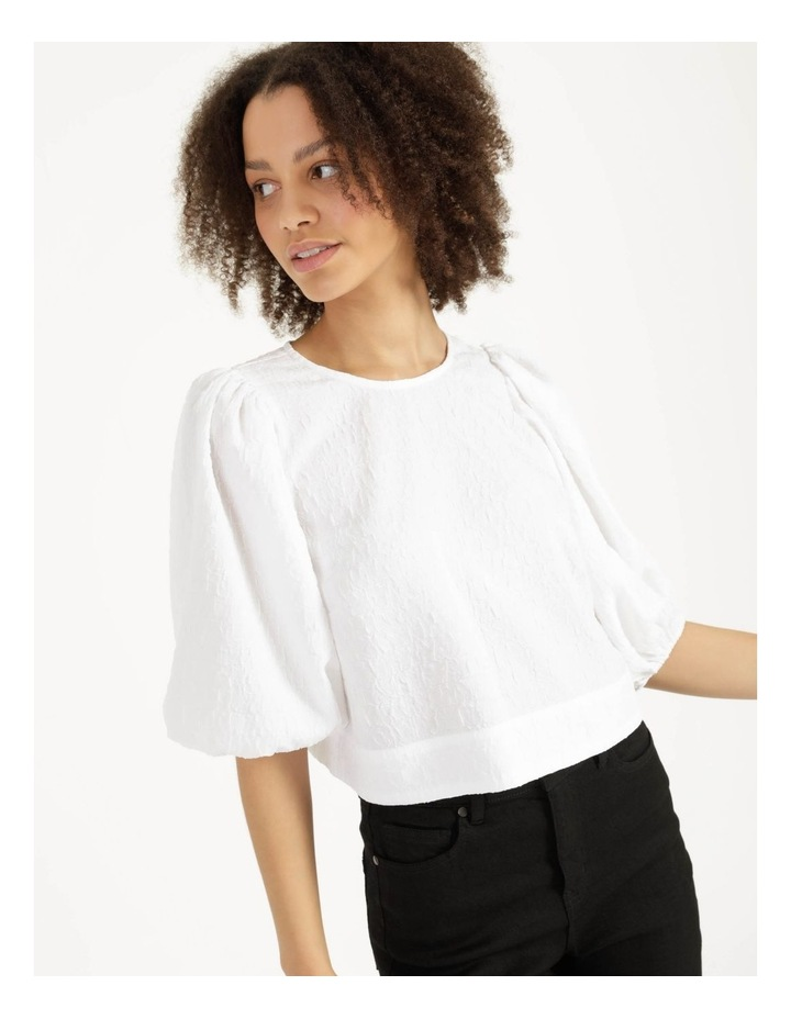 Cut Out Back Crop Top Bright White image 4