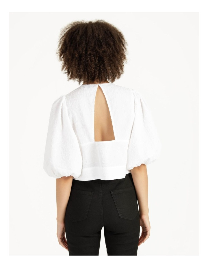 Cut Out Back Crop Top Bright White image 6