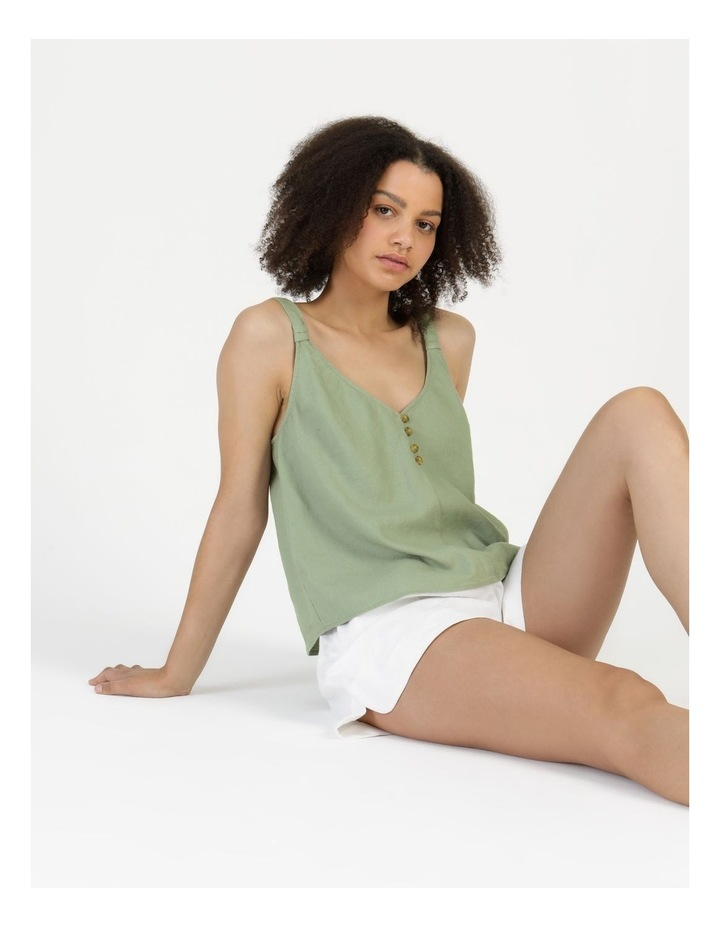 Linen Blend Cami Sea Green image 1