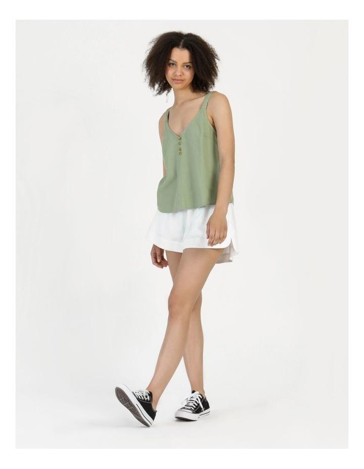 Linen Blend Cami Sea Green image 2