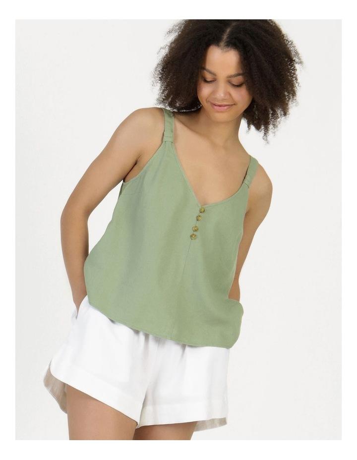 Linen Blend Cami Sea Green image 4