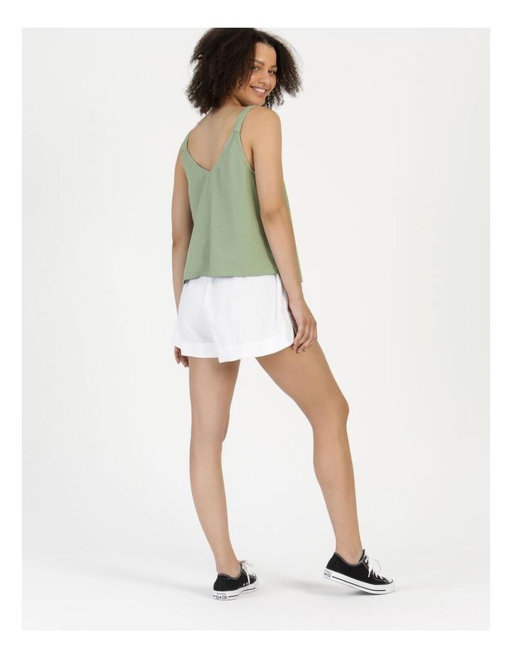 Linen Blend Cami Sea Green image 5