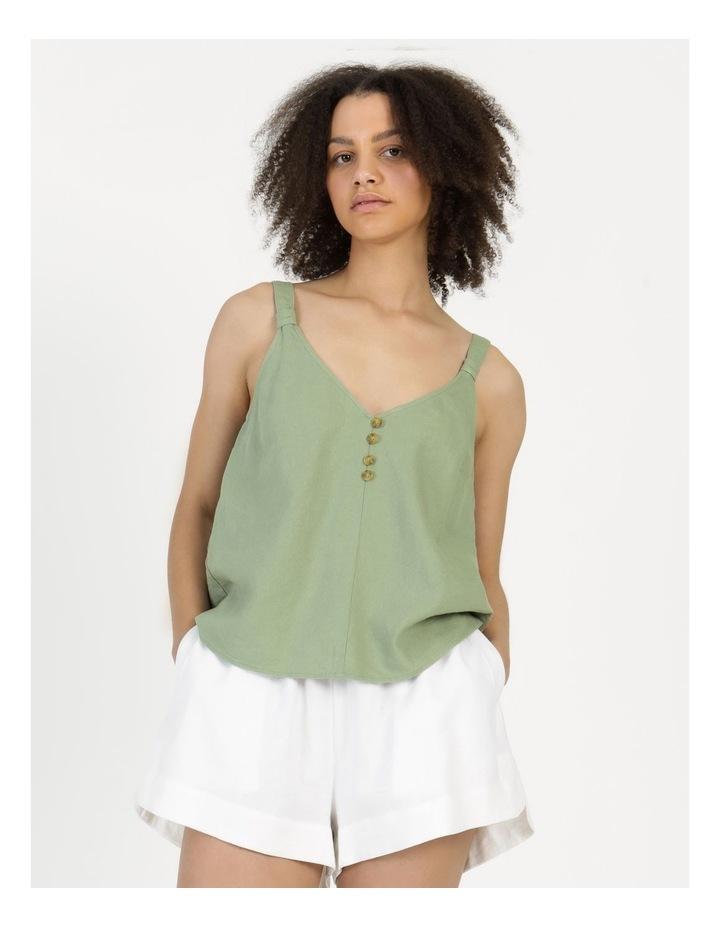 Linen Blend Cami Sea Green image 6