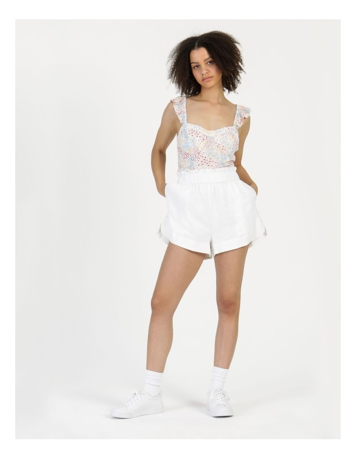 Ruffle Strap Cami White image 2