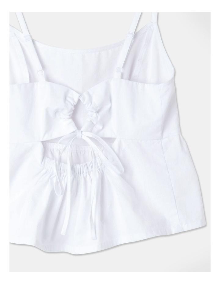 Tie Back Peplum Hem Cami Bright White image 2