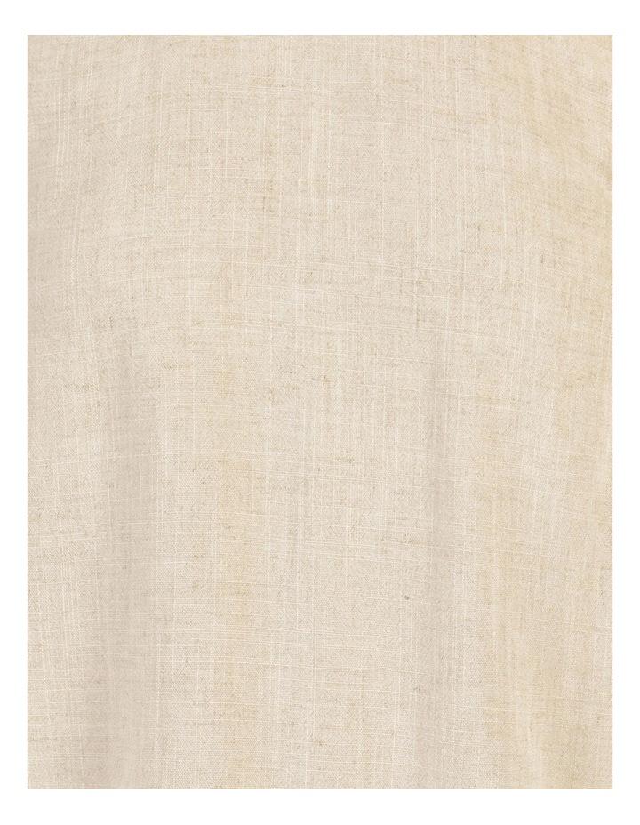 Linen Blend Ruffle Hem Shell Top Natural Fleck image 7