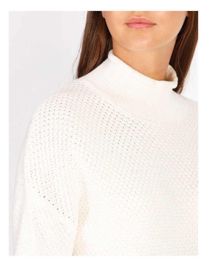 Stand Neck Waffle Jumper image 4