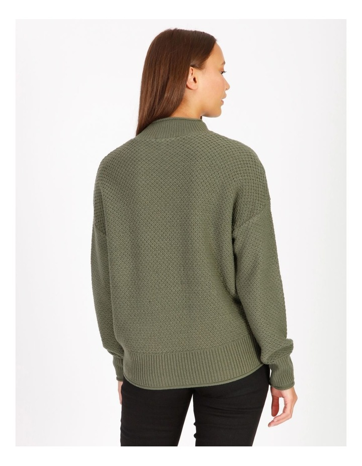 Stand Neck Waffle Jumper image 3