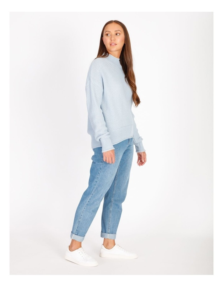Stand Neck Waffle Jumper image 2