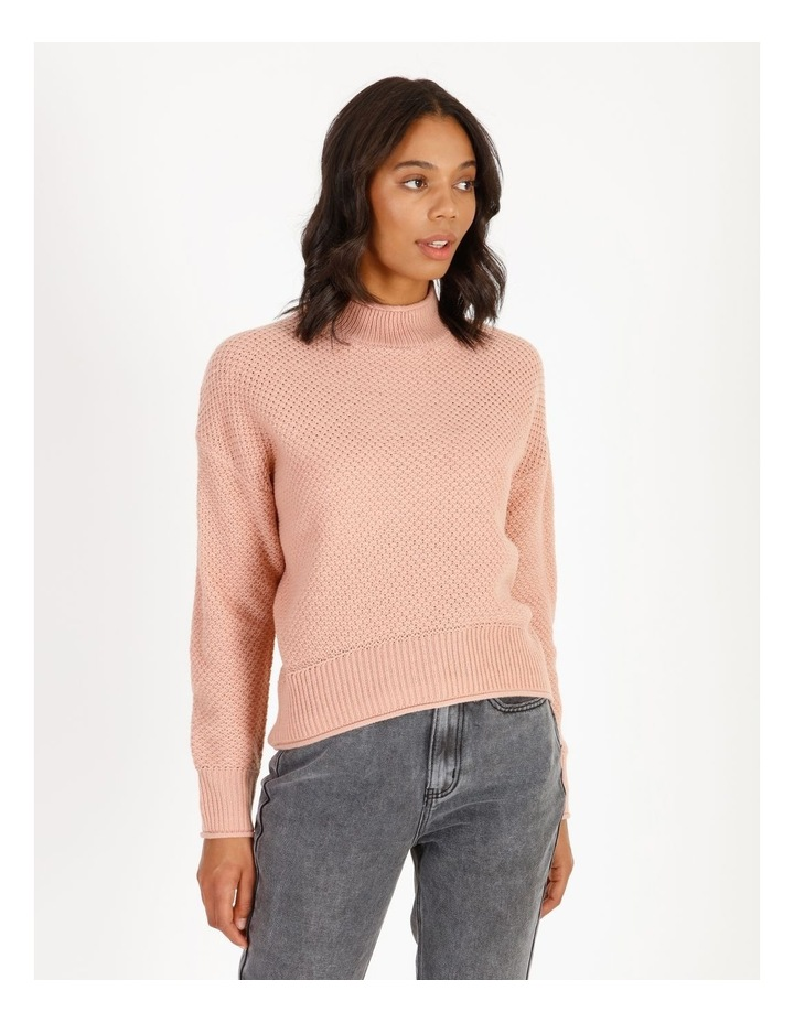 Stand Neck Waffle Jumper image 1