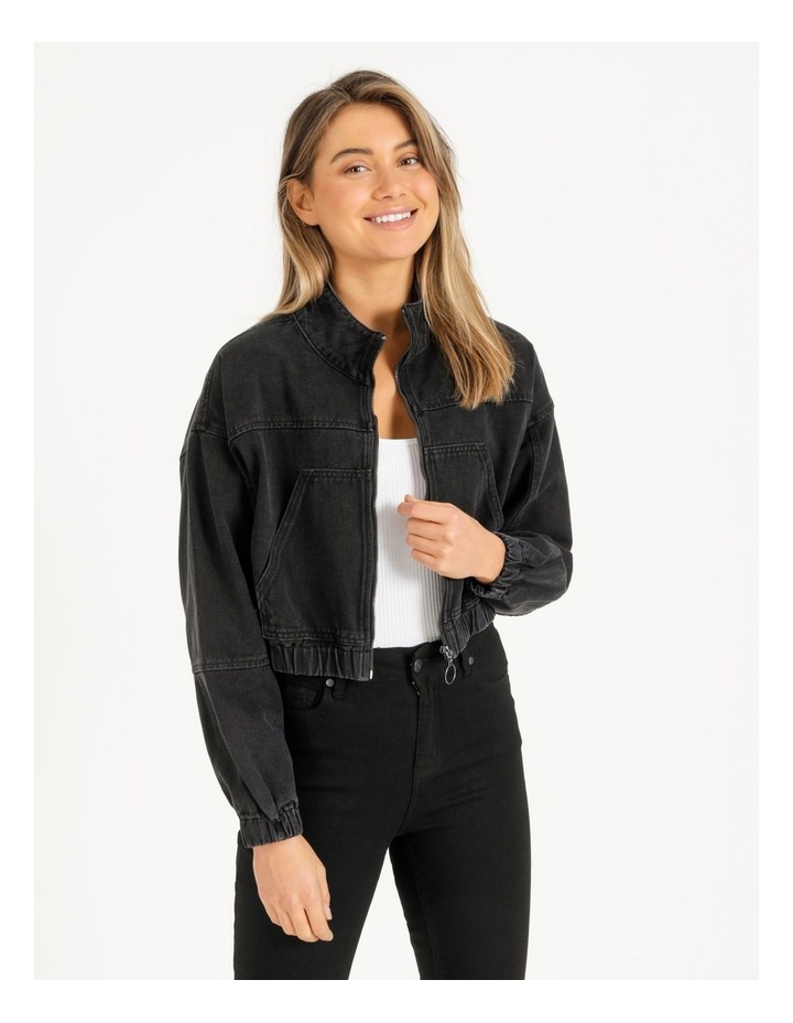 Denim Bomber Jacket image 1