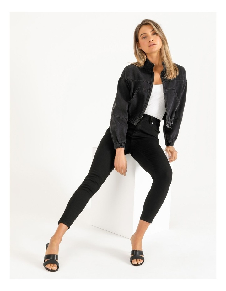 Denim Bomber Jacket image 2