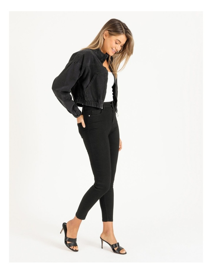 Denim Bomber Jacket image 3
