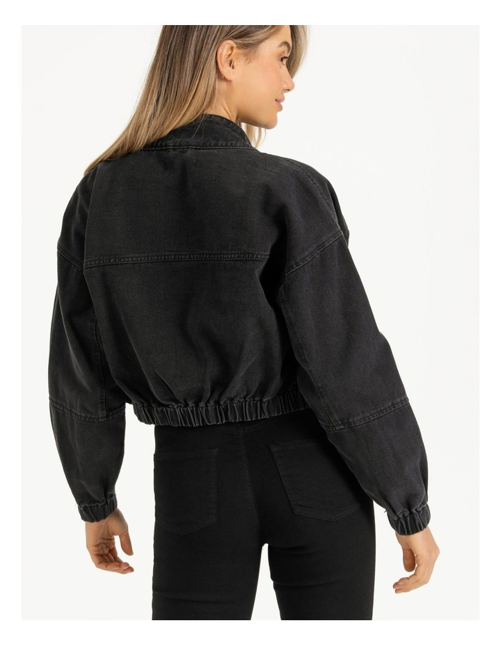 Denim Bomber Jacket image 4