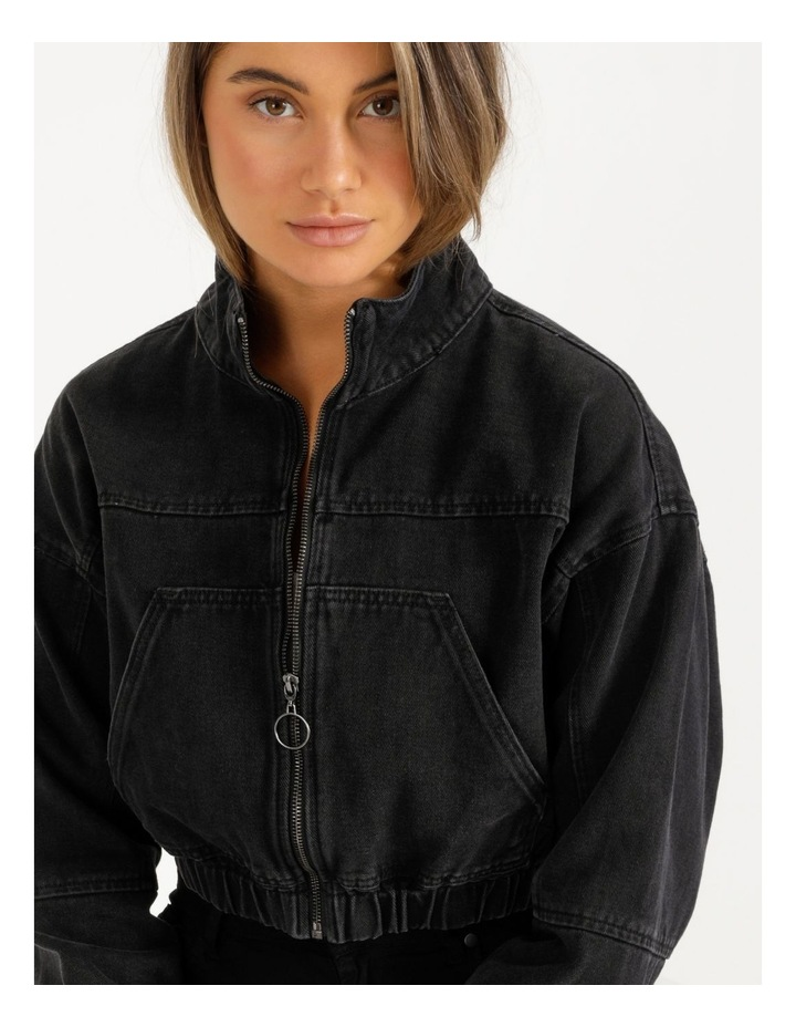 Denim Bomber Jacket image 5