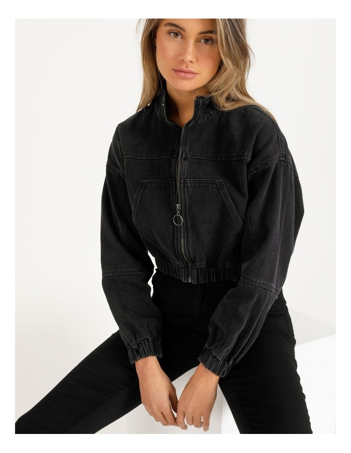 Denim Bomber Jacket image 6