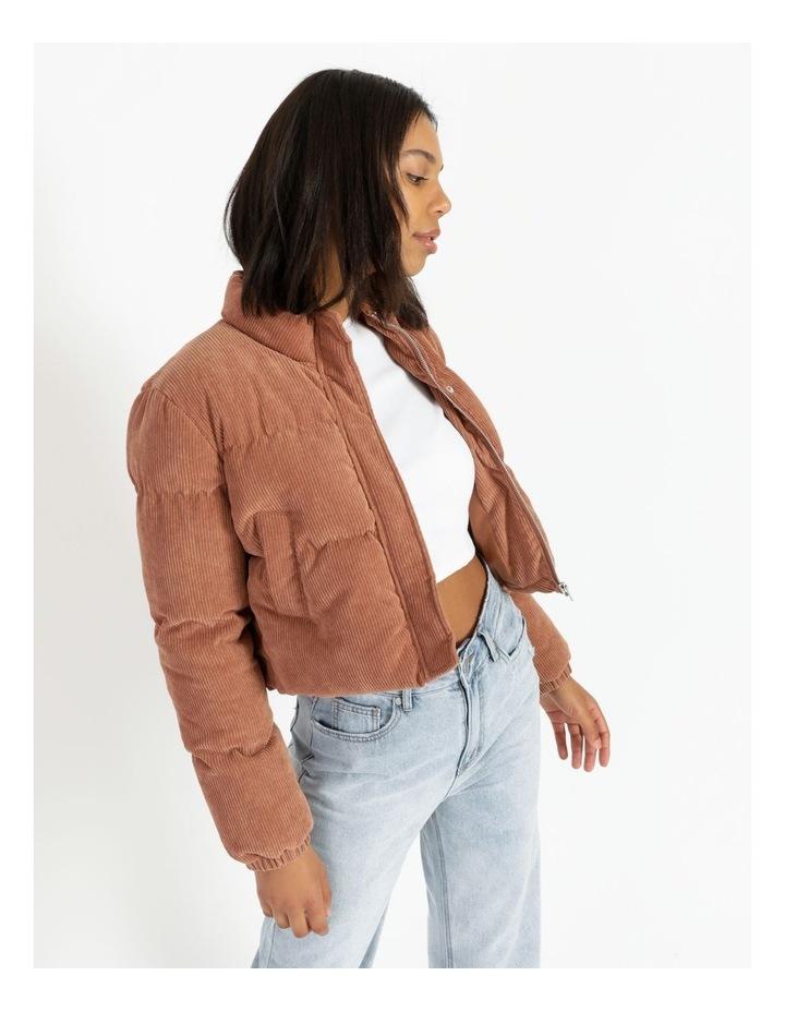 Cord Puffer Jacket image 3