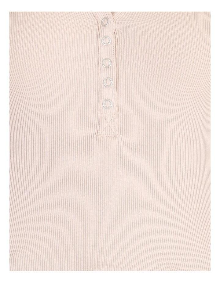 Long Sleeved Rib Henley Tee image 5