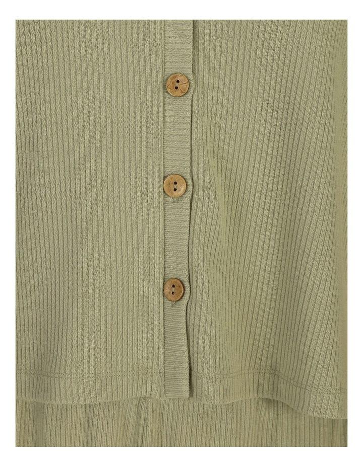 Textured Button Thru Rib Tee image 5