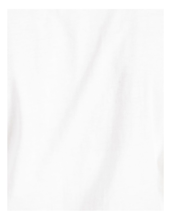 Tie Front Jersey Tee White image 7