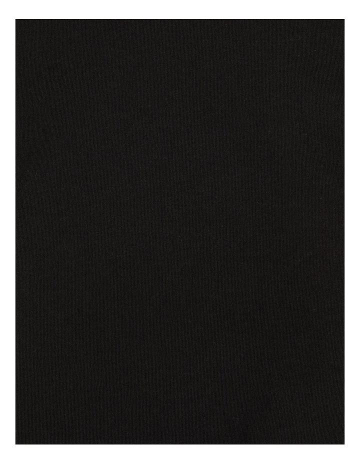 Roll Cuff Jersey Tee Black image 7
