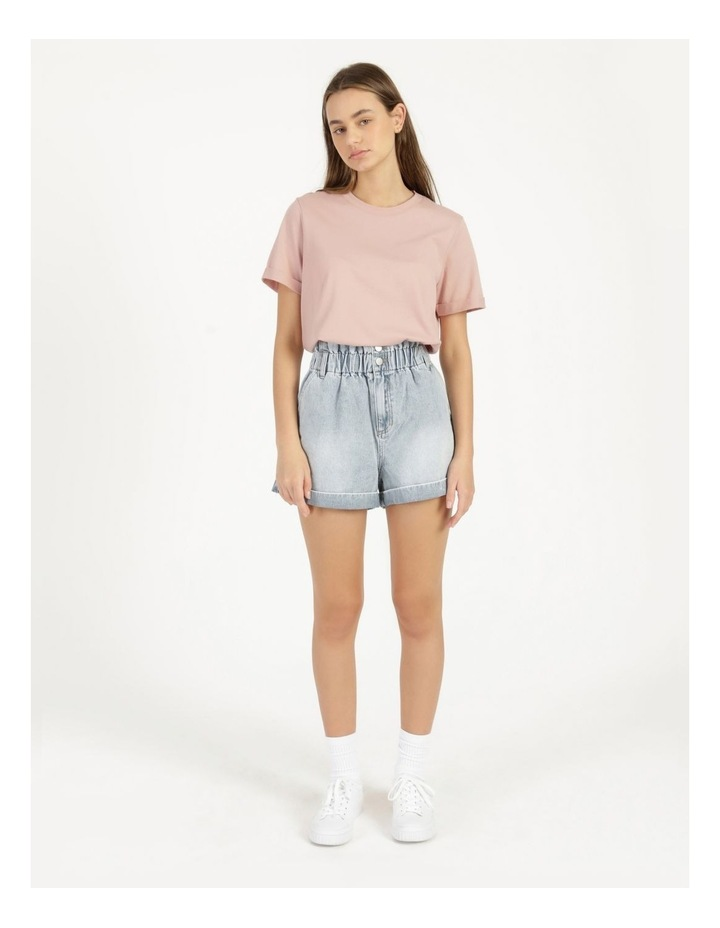 Roll Cuff Jersey Tee Pink image 1