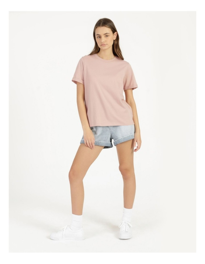 Roll Cuff Jersey Tee Pink image 3