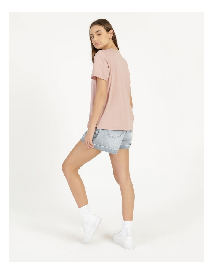 Roll Cuff Jersey Tee Pink image 5