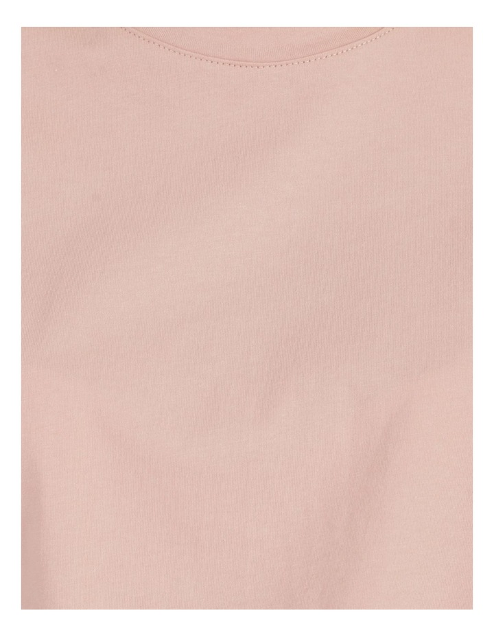 Roll Cuff Jersey Tee Pink image 7