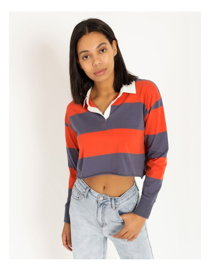 Cropped Rugby Polo Sweat image 1