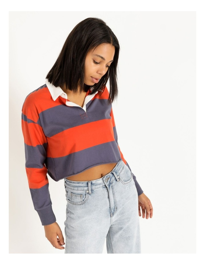 Cropped Rugby Polo Sweat image 4