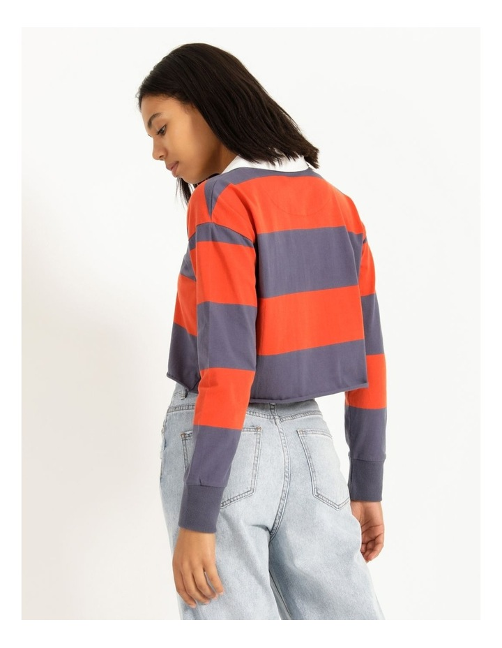 Cropped Rugby Polo Sweat image 5