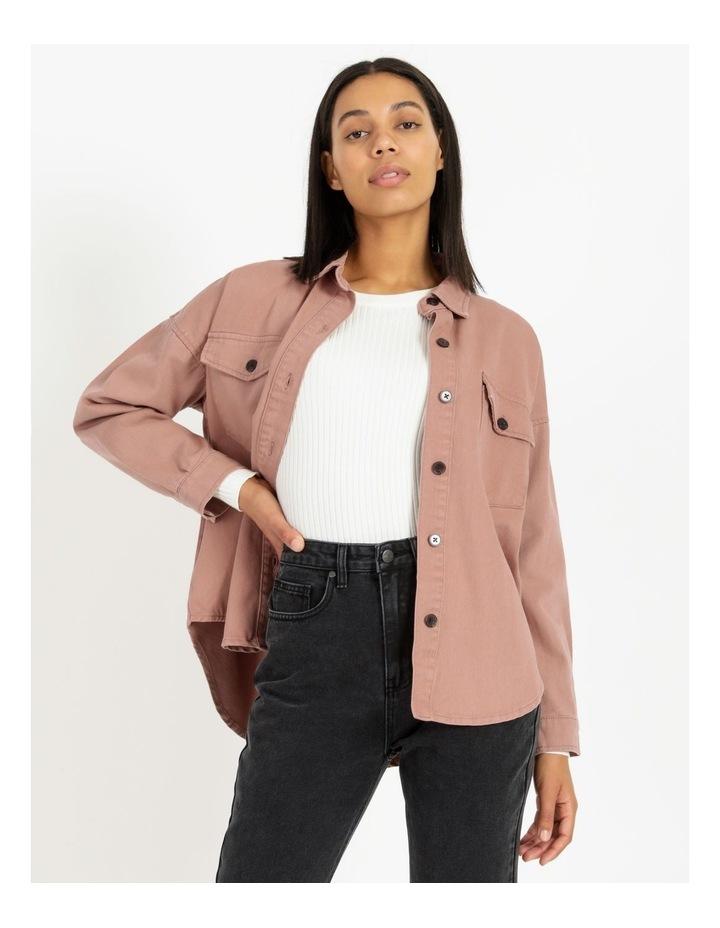 Pink Rose Cotton Overshirt image 1
