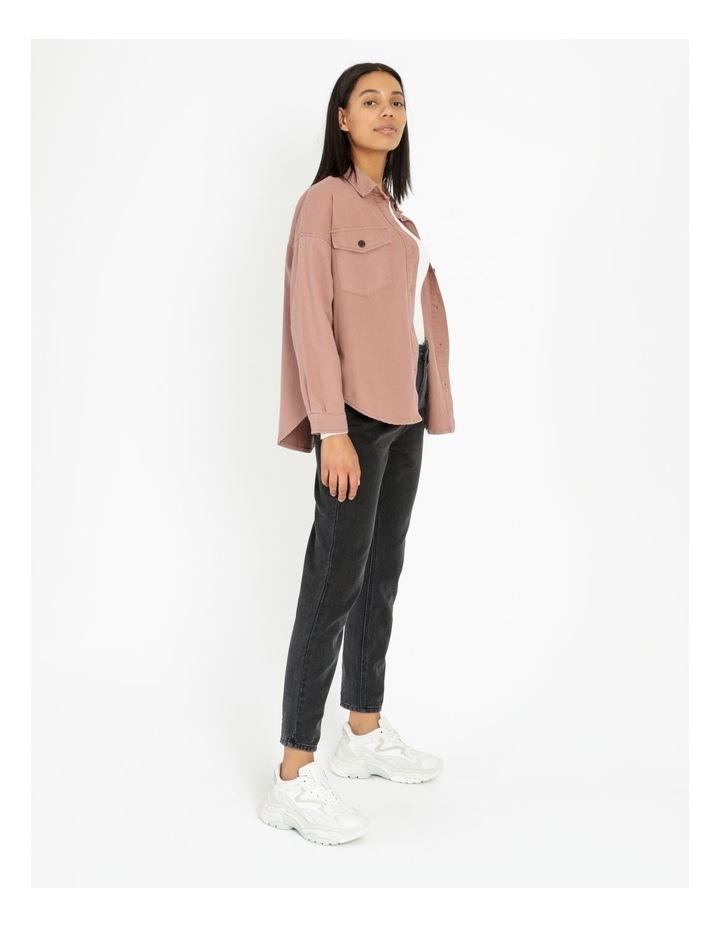 Pink Rose Cotton Overshirt image 3