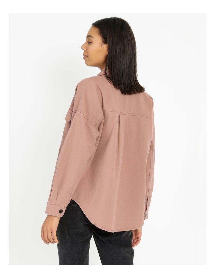 Pink Rose Cotton Overshirt image 5