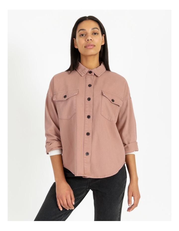 Pink Rose Cotton Overshirt image 6