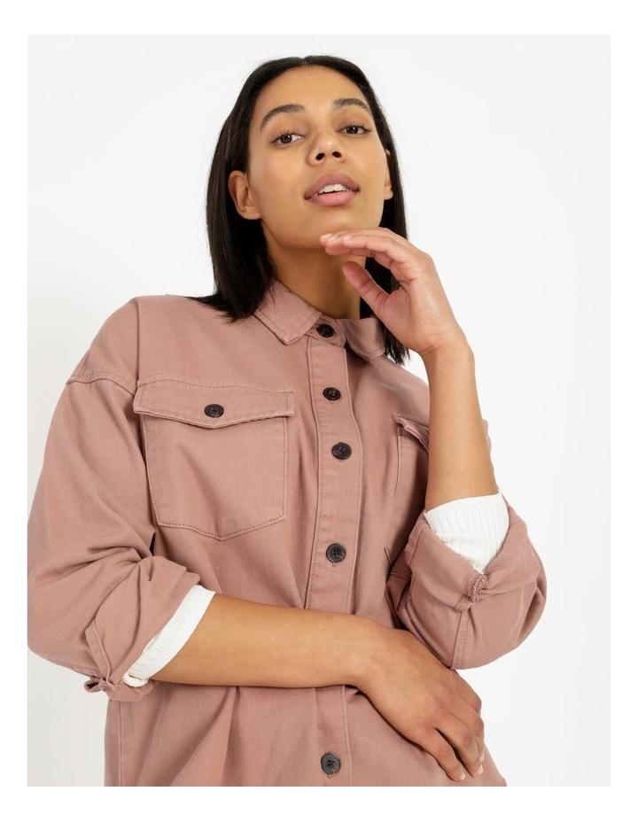 Pink Rose Cotton Overshirt image 7