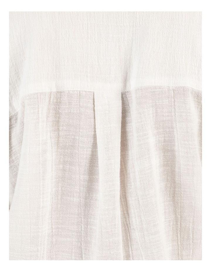 Long Sleeve Textured Cotton Shirt White image 7