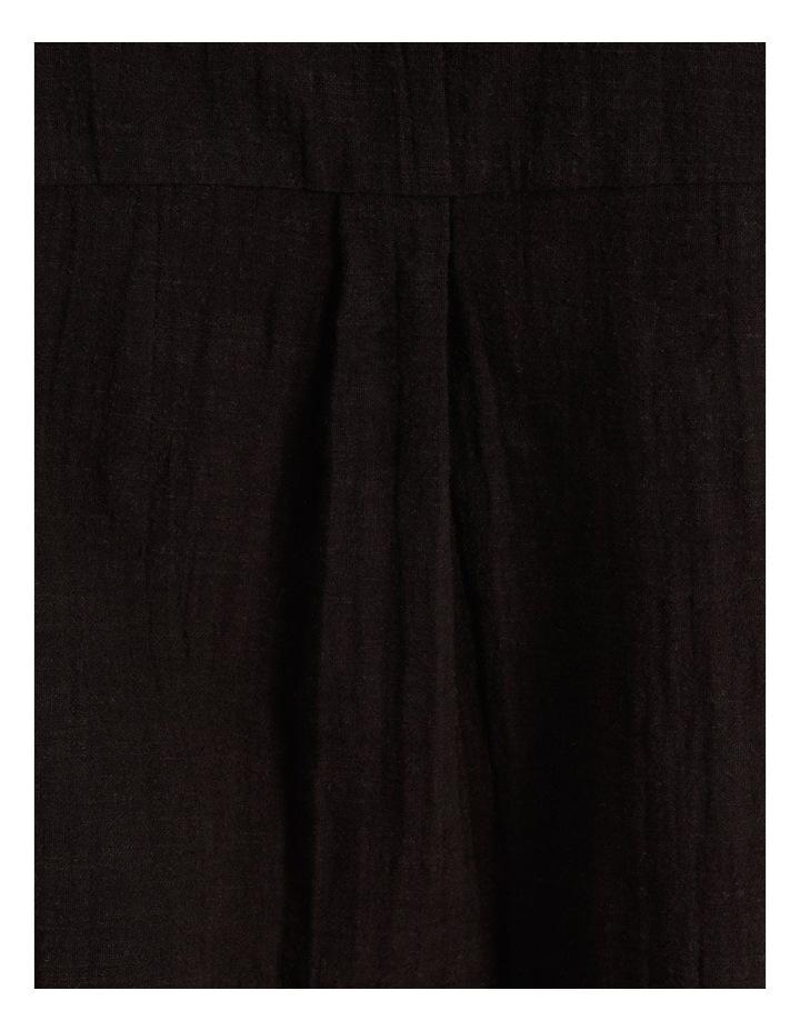 Ruffle Sleeve Tie Front Shirt Black image 6