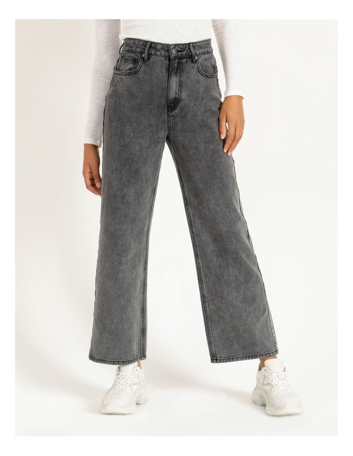 90s' Black Wash Relaxed Fit Jean image 1