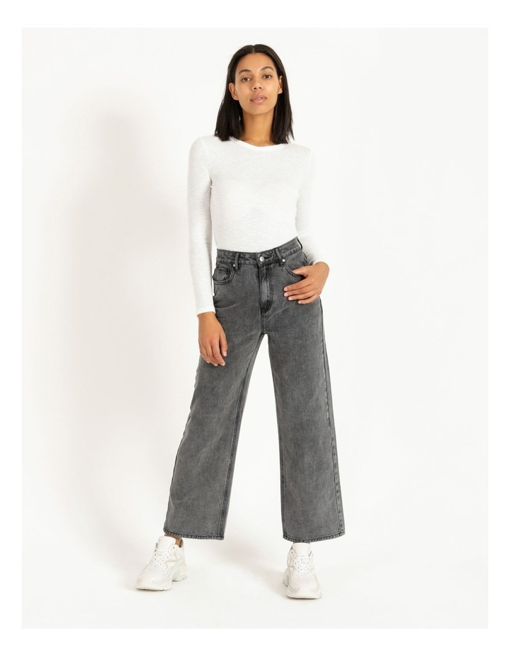 90s' Black Wash Relaxed Fit Jean image 3