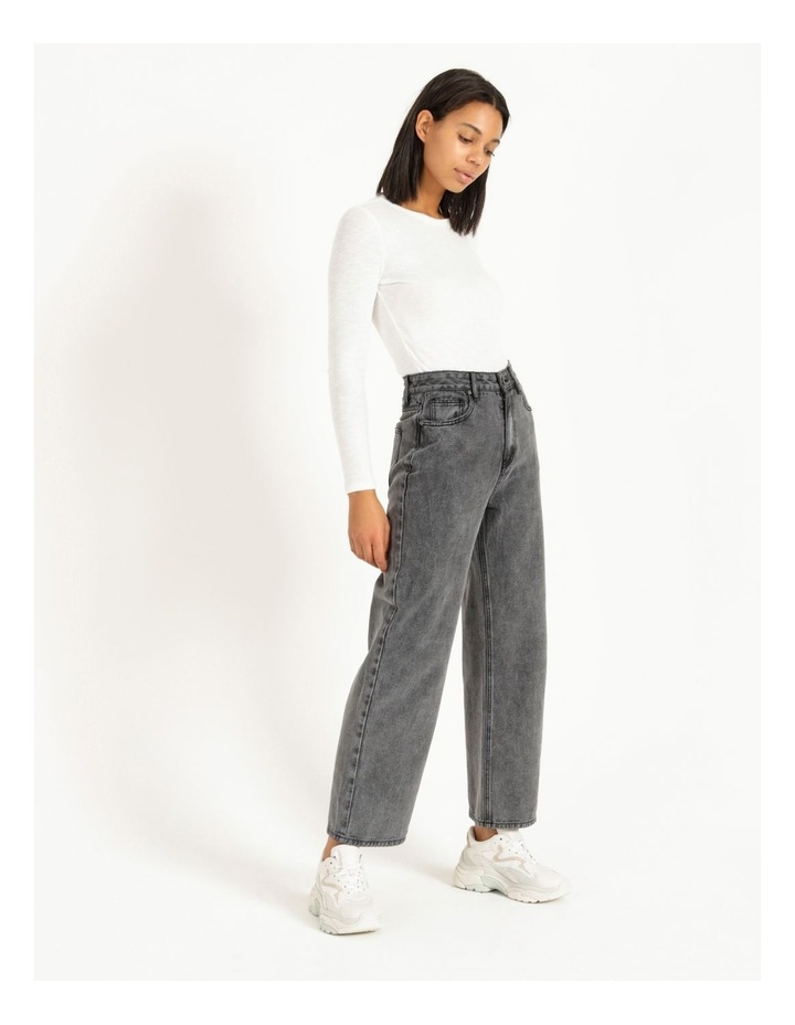 90s' Black Wash Relaxed Fit Jean image 4