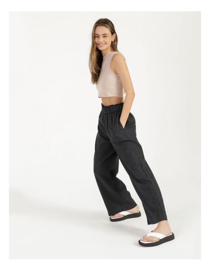 Paper Bag Wide Leg Linen Pant image 1